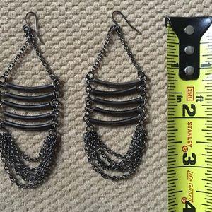 Jewelry - Gunmetal Ladder Earrings